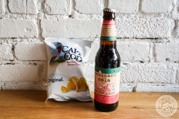 Chips and soda atLuke's Lobster in Hoboken, NJ