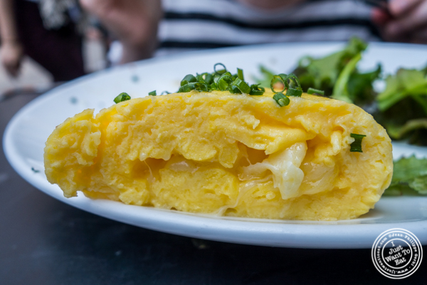 Gruyere omelette at  Tiny's And The Bar Upstairs in TriBeCa, NYC, New York