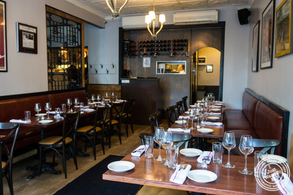 Dining room at La Sirene, French Restaurant, NYC, New York
