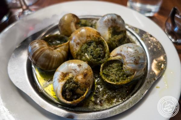 Escargots à la Bourguignone atLa Sirene, French Restaurant, NYC, New York