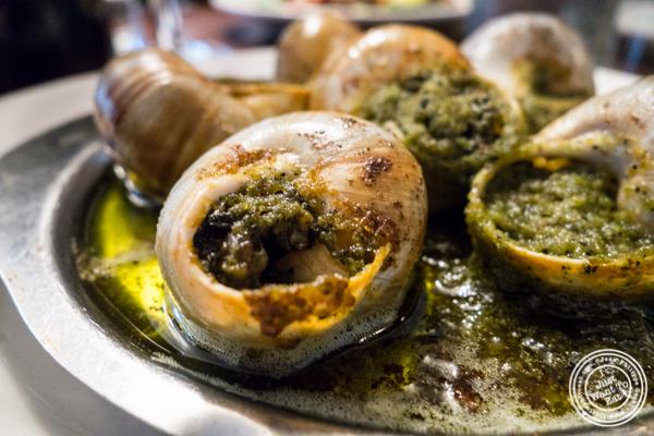 Escargots à la BourguignoneatLa Sirene, French Restaurant, NYC, New York