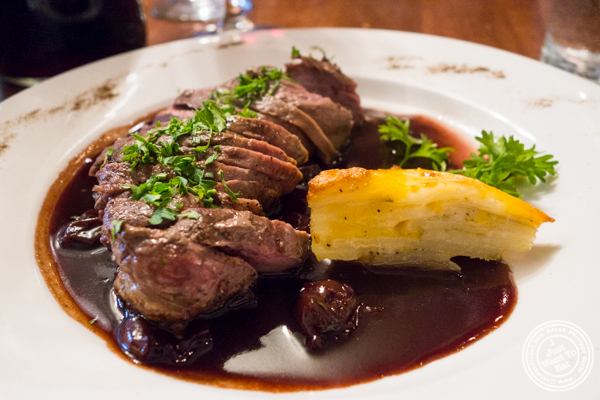 Duck breast at La Sirene, French Restaurant, NYC, New York