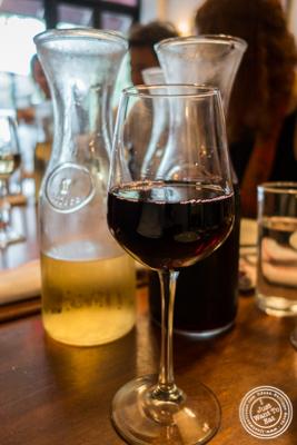 House wineatLa Sirene, French Restaurant, NYC, New York