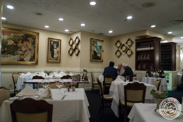 Dining room atIl Tinello in NYC, New York
