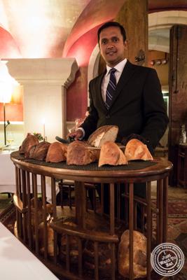 Bread cartatBouley in TriBeCa, NYC, New York