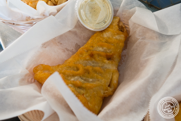Fried haddock atA Salt And Battery in NYC, New York