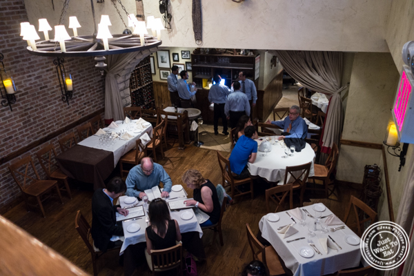 Dining room at La Masseria in NYC, New York