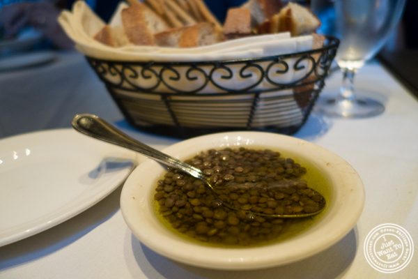 Bread basket at La Masseria in NYC, New York