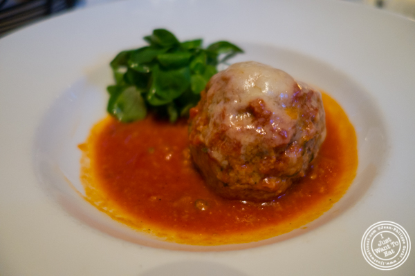 Polpette di manzo della Masseria at La Masseria in NYC, New York