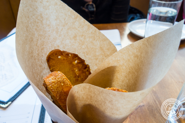 Bread basket at The Harold in NYC, New York
