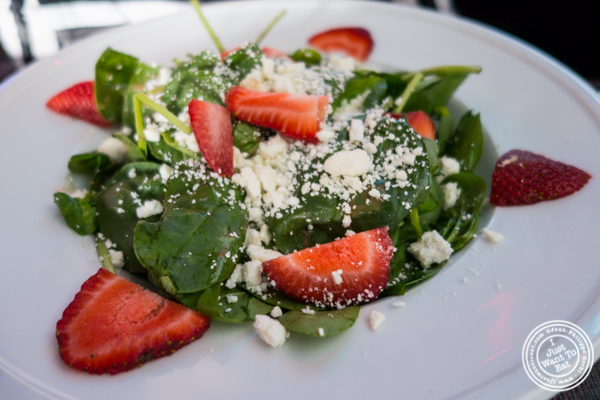 Strawberry and goat cheese salad at 1Republik in Hoboken, New Jersey