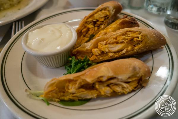 Buffalo chicken rolls at Hudson Tavern in Hoboken, NJ