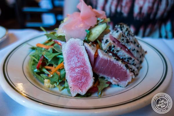 Seared tuna salad at Hudson Tavern in Hoboken, NJ