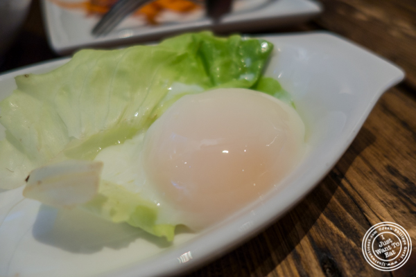 Sous-vide egg at BarKogi in NYC, New York