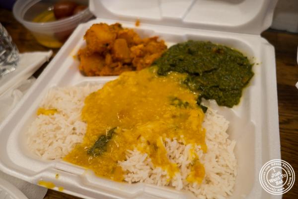Vegetarian box at Patiala in NYC, New York