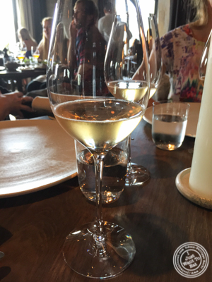 Glass of Champagne at Noma in Copenhagen, Denmark