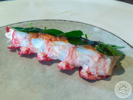 Lobster and Nasturtium at Noma in Copenhagen, Denmark