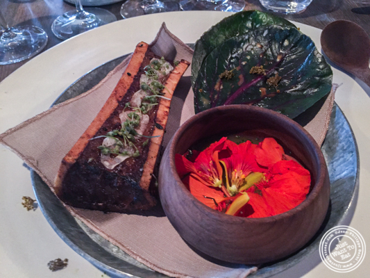 Roasted bone marrow at Noma in Copenhagen, Denmark