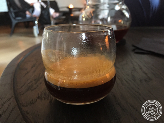 Double espresso at Noma in Copenhagen, Denmark