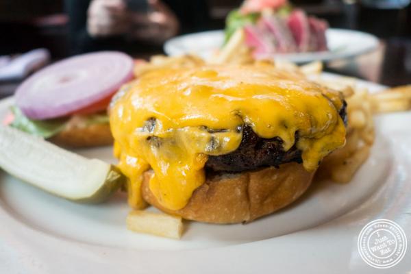 Burger at Hudson Tavern in Hoboken, NJ