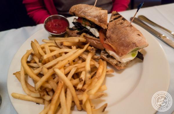 Portobello sandwich at Hudson Tavern in Hoboken, NJ