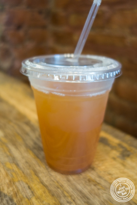 Mix lemonade and tea at Flatbread Grill in Hoboken, NJ