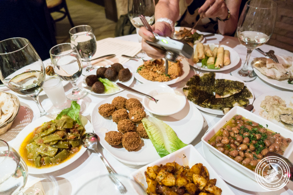 Appetizers at Byblos, Lebanese restaurant in NYC, New York