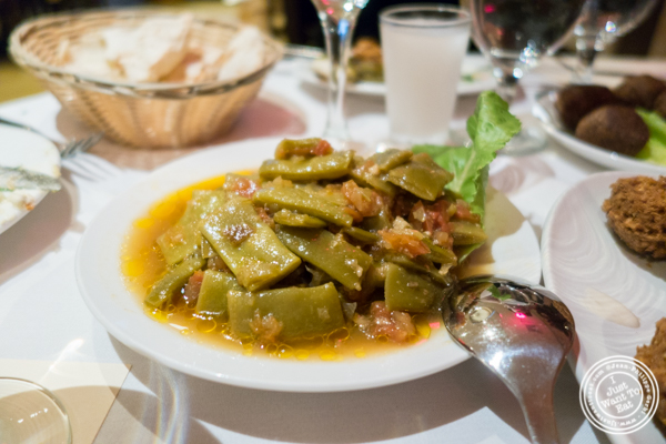 Loubie Bil Zeit at Byblos, Lebanese restaurant in NYC, New York