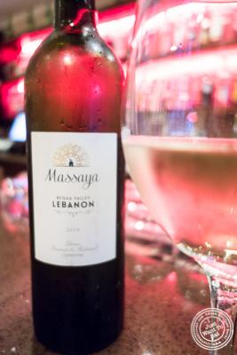 Massaya wine from Lebanon at Byblos, Lebanese restaurant in NYC, New York