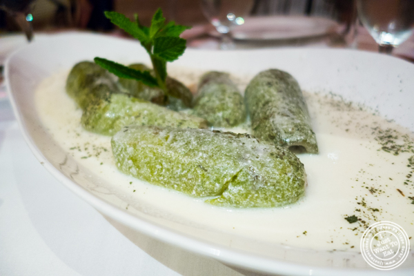 Stuffed zucchini at Byblos, Lebanese restaurant in NYC, New York