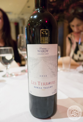 Les Terroirs Domaine Wardy at Byblos, Lebanese restaurant in NYC, New York