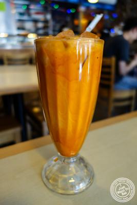 Thai iced tea at Rice Shop in Hoboken, NJ