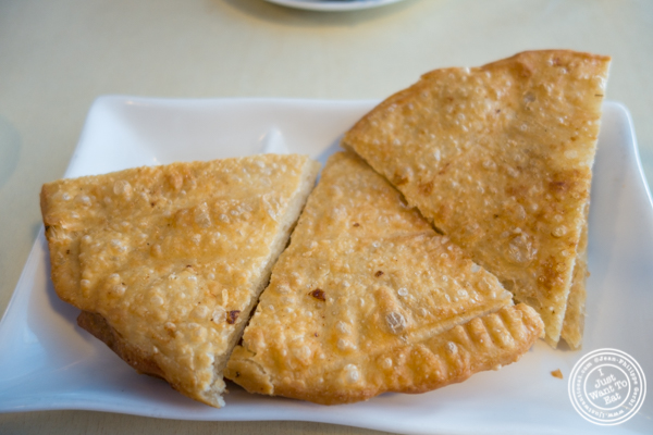 Scallion pancakes at Rice Shop in Hoboken, NJ