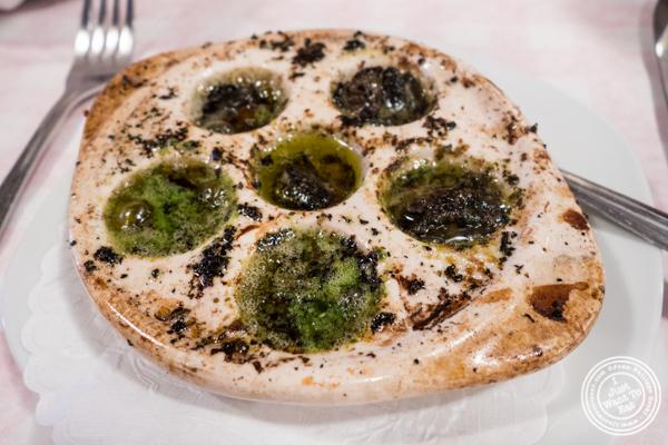 Escargots at Tout Va Bien, French Restaurant in NYC, New York