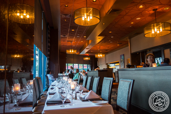 Dining room at Ruth's Chris Steakhouse in Weehawken, NJ