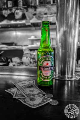 Heineken beer at Jeremy's Ale House in NYC, New York