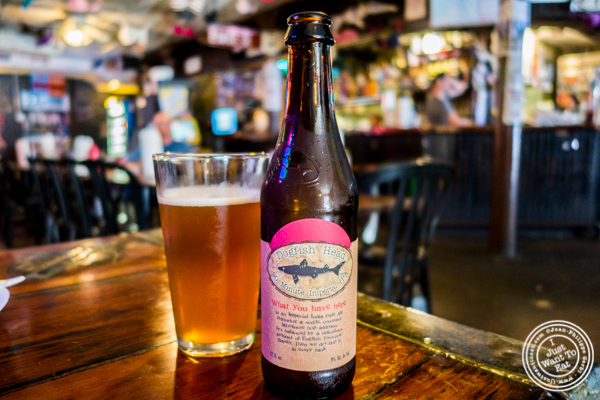 Dogfish Head beer at Jeremy's Ale House in NYC, New York