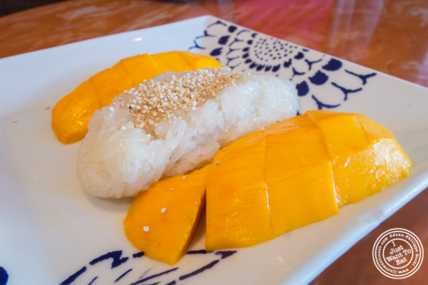 Mango sticky rice at Bangkok City in Hoboken, NJ