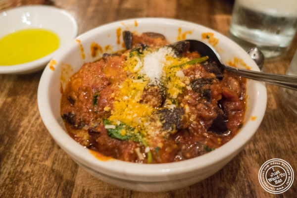 Melanzane a Funghetto at Max, Italian Restaurant in TriBeCa