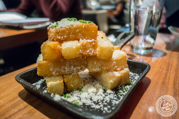 Truffle and parmesan fries at STK,modern steakhouse in NYC, New York