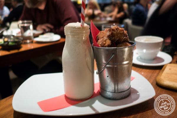 Churro milkshake at STK,modern steakhouse in NYC, New York