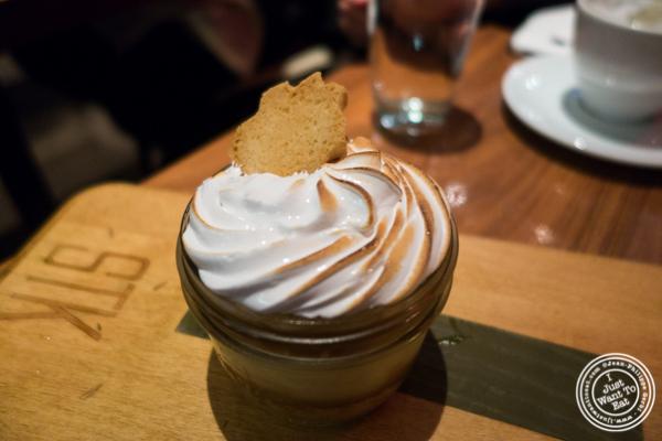 Banana cream pie in a jar at STK,modern steakhouse in NYC, New York