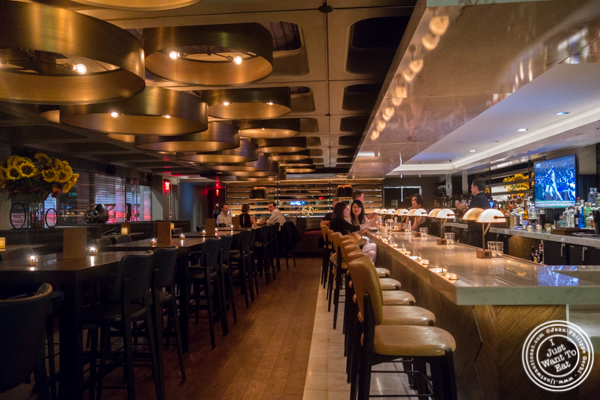 Bar area at Ocean Prime in NYC, New York