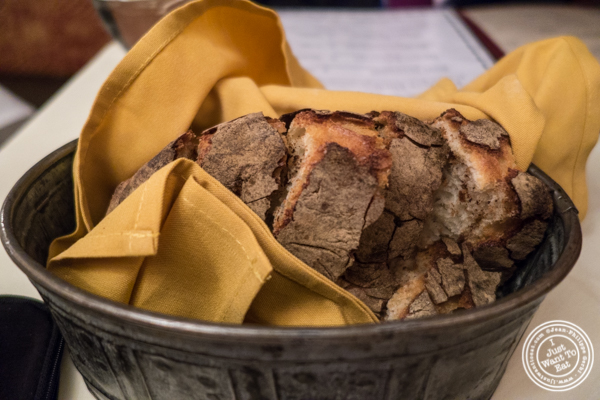 Bread basket at Maria's Mont Blanc in The Theater District, NYC, New York