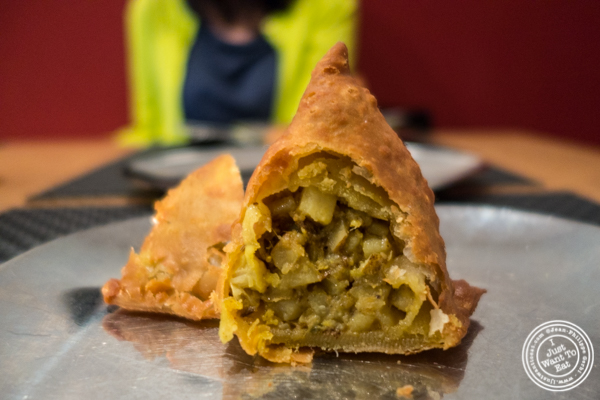 Samosa at Dosai, Indian restaurant in NYC, New York