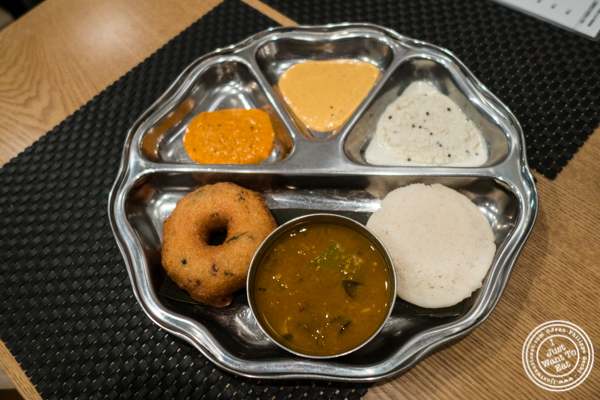 Idli Vadai combo at Dosai, Indian restaurant in NYC, New York