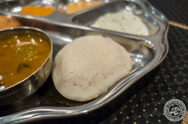 Idli at Dosai, Indian restaurant in NYC, New York