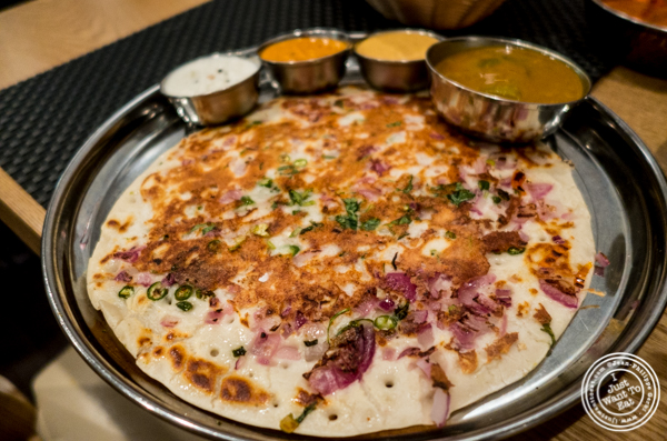 Uttapam at Dosai, Indian restaurant in NYC, New York