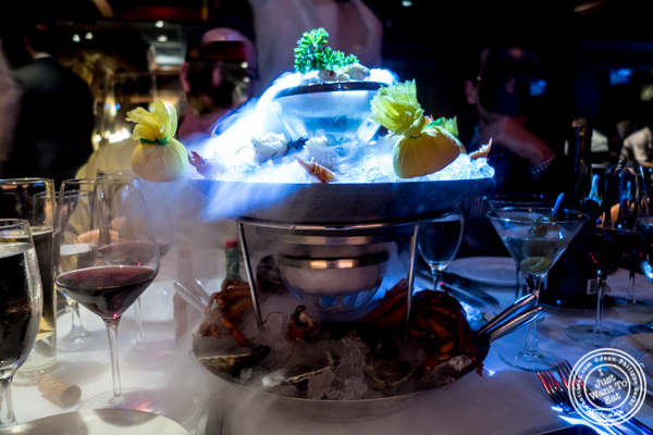 Seafood tower at Mastro's Steakhouse in NYC, New York