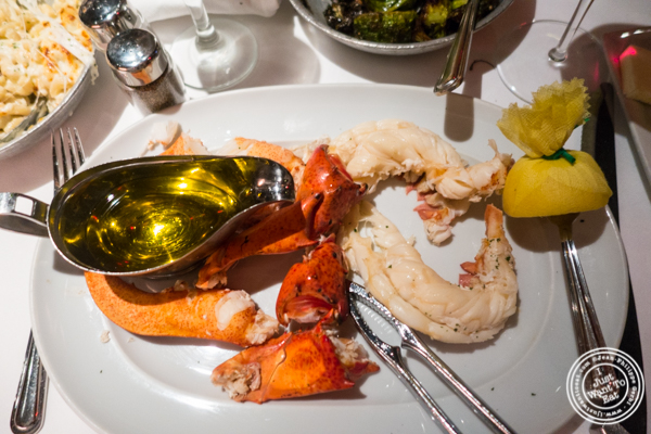 Live Maine lobster at Mastro's Steakhouse in NYC, New York